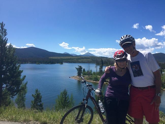 Biking around Lake Dillon, Claudia Carbone photo