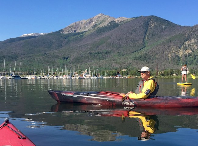 Kayaking on Lake Dillon from Frisco Bay Marina, photo by Claudia Carbone