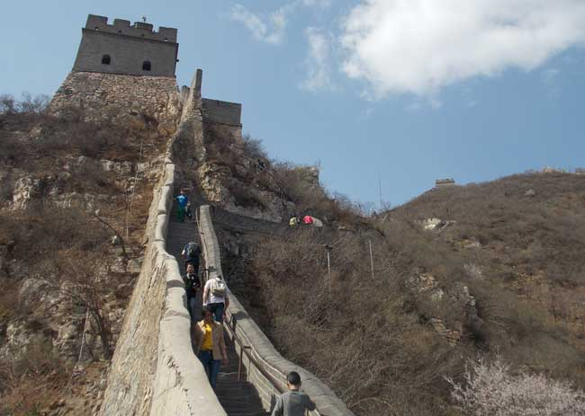 Walking on the Great Wall of China. Photo by Eric D. Goodman