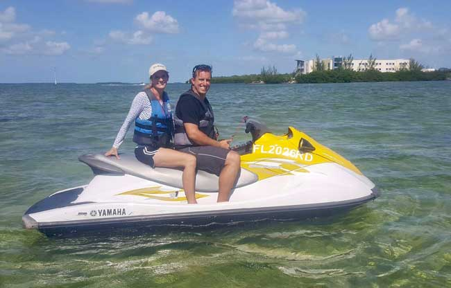 Jet skiing in the Florida Keys with Barefoot Billy's Watersports