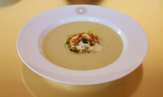 Parmentier style winter French soup