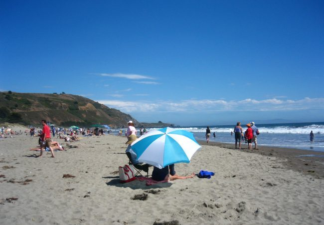Travel in Marin County includes a day at Stinson Beach