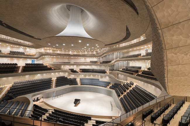 The Grand Concert Hall has 2,100 seats, and the Recital Hall hosts intimate concerts for up to 550. Photo by Iwan Baan