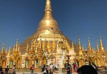 The Shwedagon Pagoda in Myanmar. Photo by Sherrill Bodine