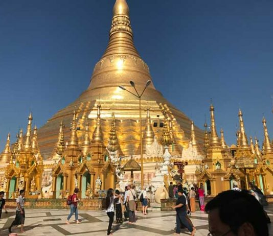 The Shwedagon Pagoda in Myanmar. Photo by Sherrill Bodine
