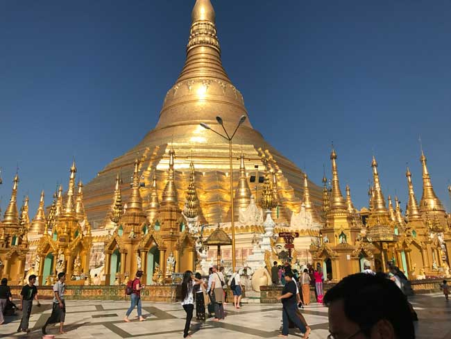 Myanmar Travel. The Shwedagon Pagoda in Myanmar. Photo by Sherrill Bodine