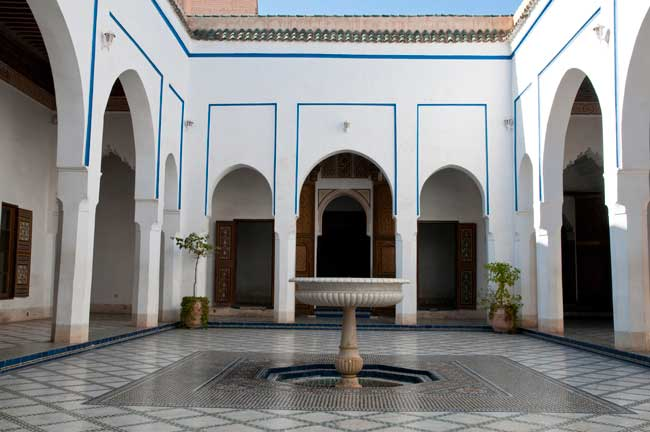 Marrakech Travel - The Bahia Palace in Marrakesh, Morocco was built in the late 19th century. Photo by Moroccan National Tourist Office