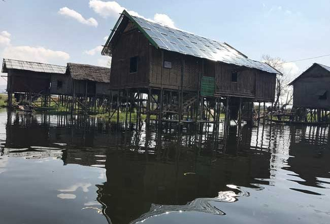 A village on Inle Lake. Photo by Sherrill Bodine