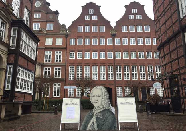 The Composers Quarter, opened in 2015 near St. Michael church, highlights the life and works of many of Hamburg's music greats. Photo by Janna Graber