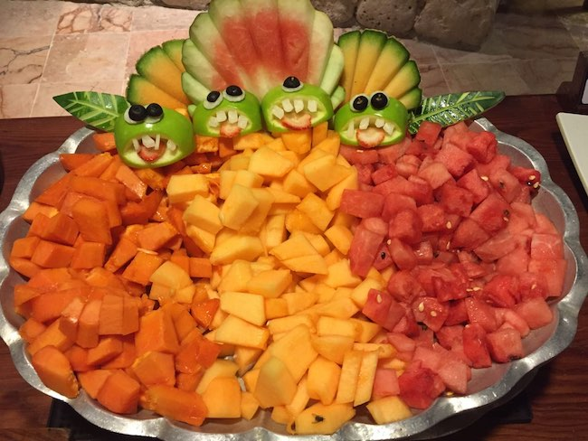 Fruit plate in the dining hall. Photo by Claudia Carbone