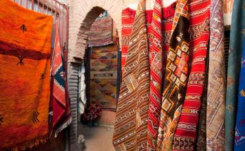 Buying a carpet in Morocco is an unforgettable experience. Photo by Moroccan National Tourist Office.