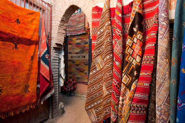 Marrakech Travel - Buying a carpet in Morocco is an unforgettable experience. Photo by Moroccan National Tourist Office.