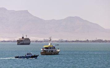 Cruising through the Suez Canal. Flickr/Darren Puttock