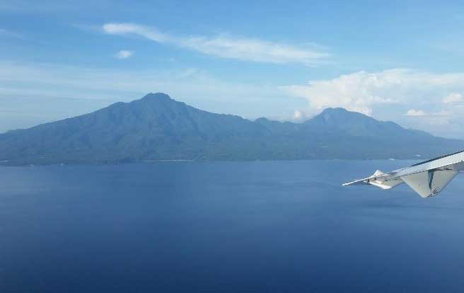 Sea & Sun Resort - View of Camiguin Island from the plane. Photo by Wenche Thorkildsen