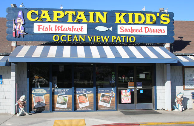 Family Travel in Redondo Beach - Captain Kidd's Seafood Market. Photo by Carrie Dow
