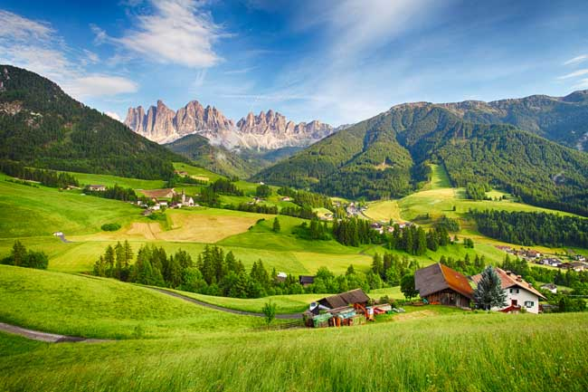 Ranked among Europe's greatest hiking destinations, the UNESCO-listed Dolomites form a particularly spectacular crumple in the Alps.