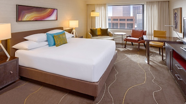 Corner king room at Grand Hyatt Denver. Photo courtesy of Grand Hyatt Denver