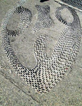 Pebble designs in concrete on the puerto vallarta Malecón. Photo by Fyllis Hockman