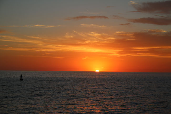 Don't miss the sunsets on Redondo Beach. Photo by Carrie Dow