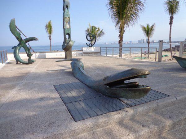 Sculpture conglomeration on Puerto Vallarta Malecón. Photo by Fyllis Hockman