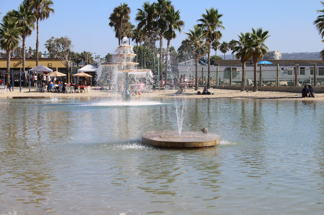 Family travel in Redondo Beach - The Seaside Lagoon has plenty of space for little ones to play. Photo by Carrie Dow