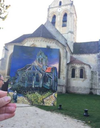 Van Gogh painted the Church at Auvers sur Oise. Photo by Janna Graber