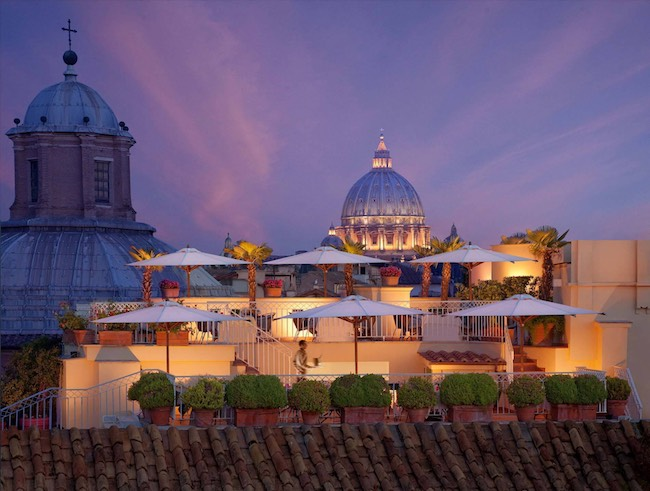 Hotel Raphaël, Rome Italy. Photo courtesy of VeggieHotels/Hotel Raphaël