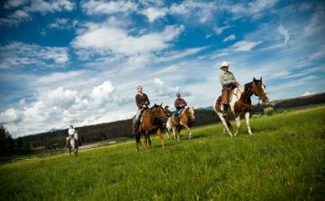 Guests enjoy an afternoon ride at Devil's Thumb Ranch in Colorado. Photo courtesy Devil's Thumb Ranch