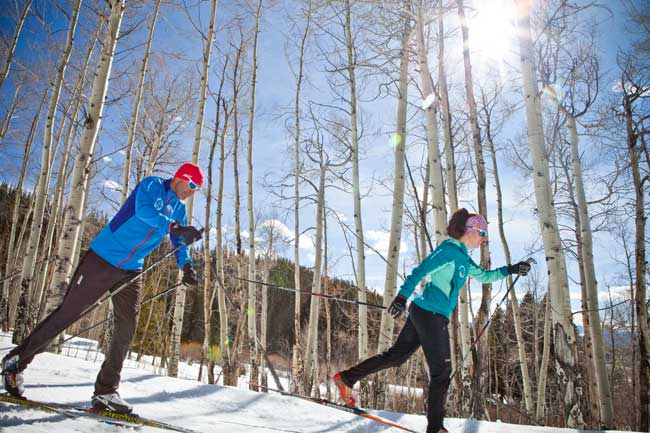 Best Year-Round Colorado Dude Ranches. Devil's Thumb Ranch is well-known for their excellent Nordic skiing and snowshoe trails. Photo courtesy Devil's Thumb Ranch