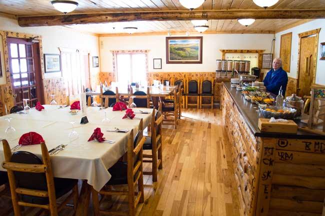 Meals are a highlight at Latigo Ranch in Colorado. Photo by Mark Rush