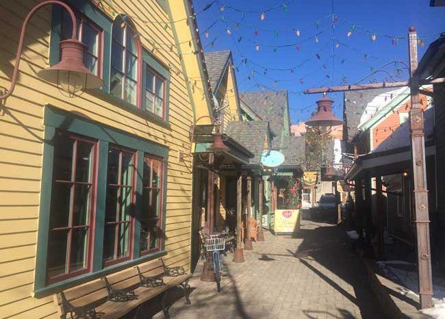 Downtown Breckenridge is lined with Victorian homes and buildings. Photo by Janna Graber