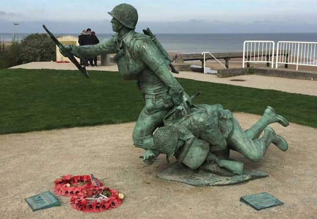 A D-Day Memorial along the beaches of Normandy. Photo by Janna Graber