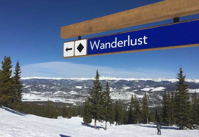Spring skiing in Breckenridge often means clear blue skies and bright sun. Photo by Janna Graber