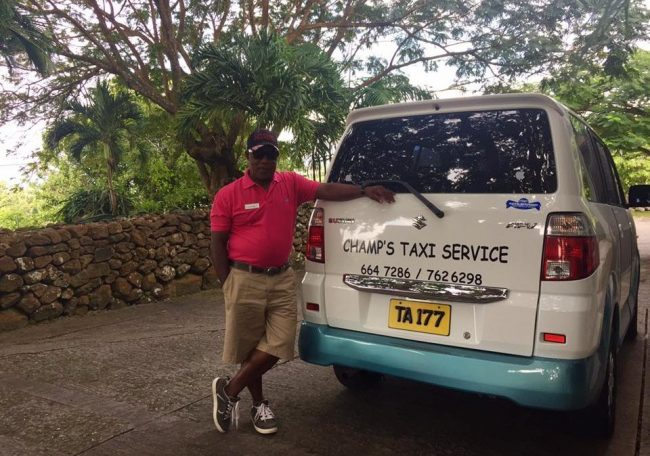 Nevis Travel - Our taxi driver, Champ, was a wealth of information. Photo by Janna Graber