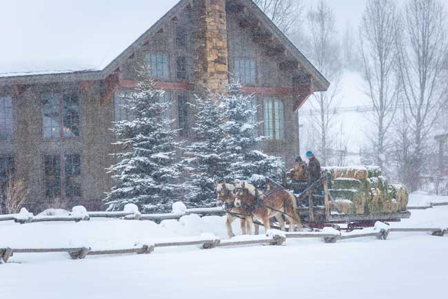 Vista Verde is one of the few dude ranches in Colorado that is open in the winter. Photo by Gigi Embrects