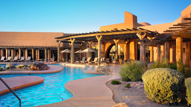 Patio and pool at Aji Cafe. Photo courtesy of Sheraton Grand at Wild Horse Pass