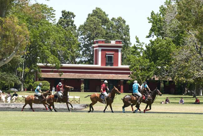 Polo game at La Bamba de Areco in Argentina. Photo courtesy La Bamba de Areco