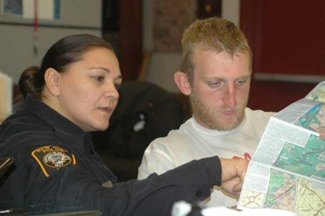Dawn, a police officer in New Hope, PA, helped Rob with securing rooms and police escorts when possible.