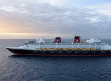 Crusing with the Disney Wonder: The Disney Wonder at sea. Photo by Todd Anderson