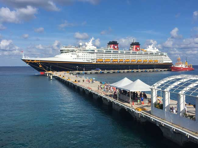 The Disney Wonder at port in Cozumel, Mexico. Photo by Janna Graber