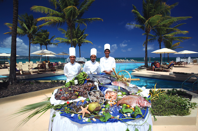 Chefs with seafood. Photo courtesy of Magdalena Beach & Golf Resort
