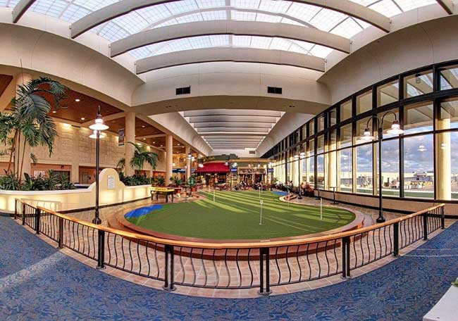 The putting green at Palm Beach International Airport. Photo courtesy Palm Beach International Airport