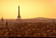 Paris at sunset. Flickr/Moyan Brenn