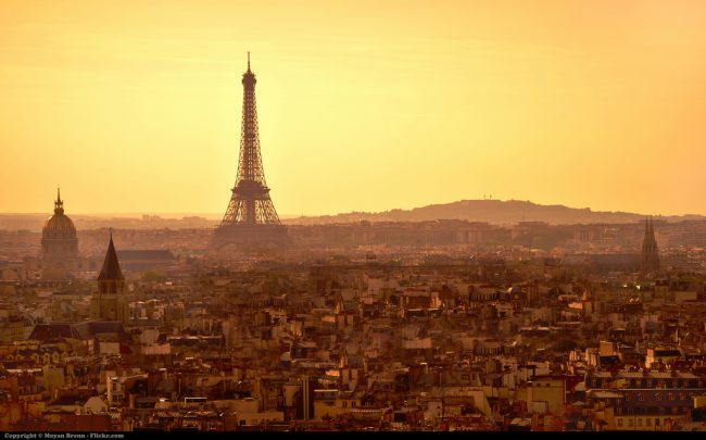Travel in Paris, 14th Arrondissement. Paris at sunset. Flickr/Moyan Brenn