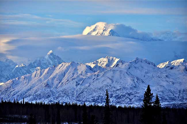 Mount McKinley in Alaska is the highest peak in North America, with an elevation of 20,320 ft. Flickr/Cecil Sanders