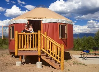 A six-person yurt at Snow Mountain Ranch. Photo by Claudia Carbone