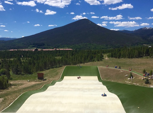 Summer tubing hill at Snow Mountain Ranch. Photo by Claudia Carbone
