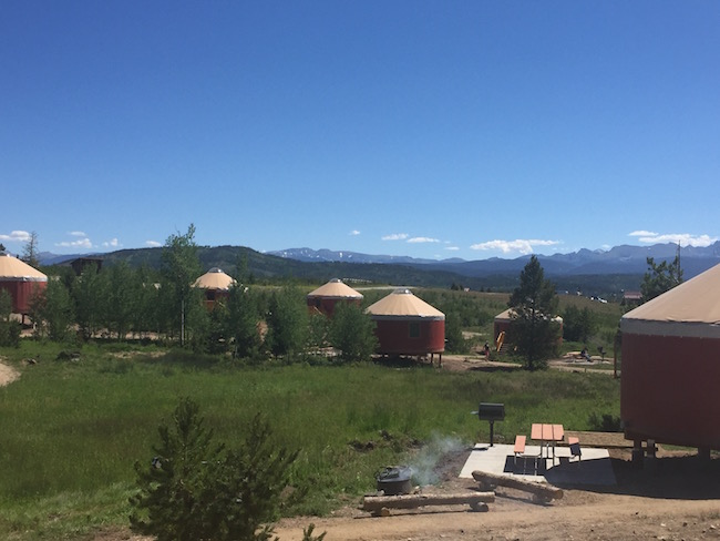Yurt Village at Snow Mountain Ranch. Photo by Claudia Carbone