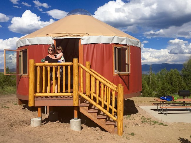Glamping in Yurt Village at Colorado's Snow Mountain Ranch