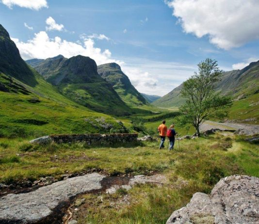 Hiking in the Highlands. Photo courtesy of VisitScotland